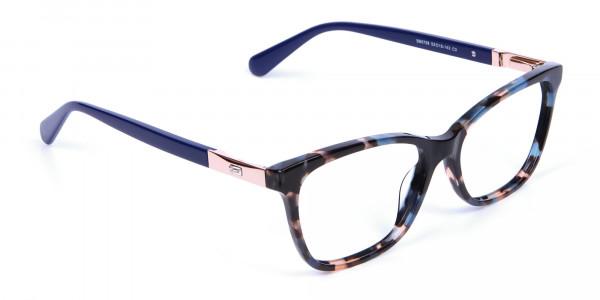 Blue Tortoiseshell Cat Eye Glasses for Women - 1