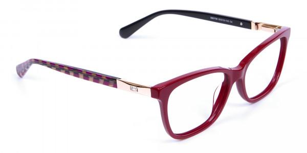 Retro Red Cat Eye Glasses for Women - 1