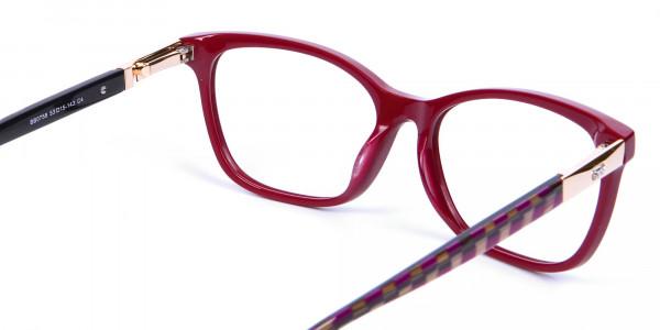 Retro Red Cat Eye Glasses for Women - 4