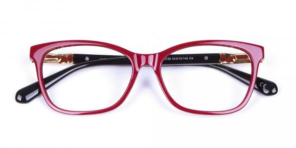 Retro Red Cat Eye Glasses for Women - 5