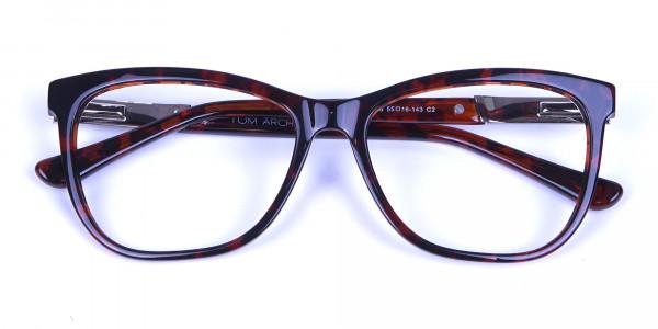 Tortoiseshell & Havana Oversized Glasses - 5