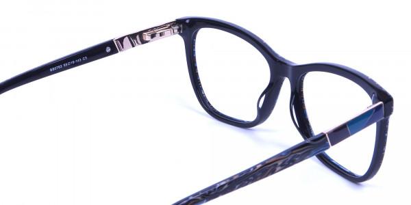 Blue Oversized Glasses - 4