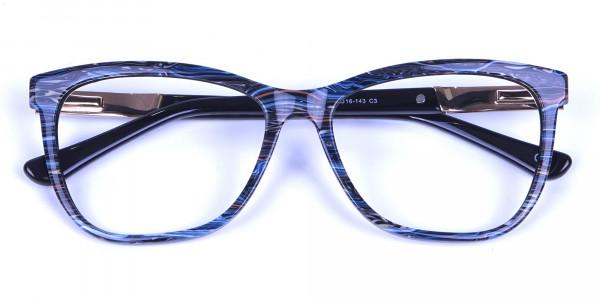 Blue Oversized Glasses for Men and Women - 5