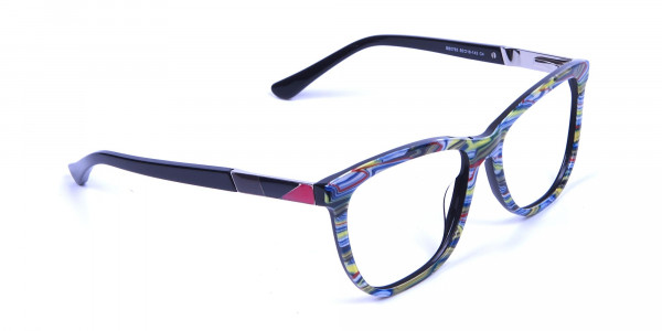 Green and Blue Oversized Glasses for Men and Women - 1