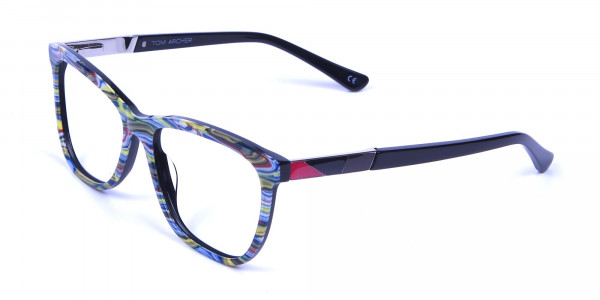 Green and Blue Oversized Glasses for Men and Women - 2