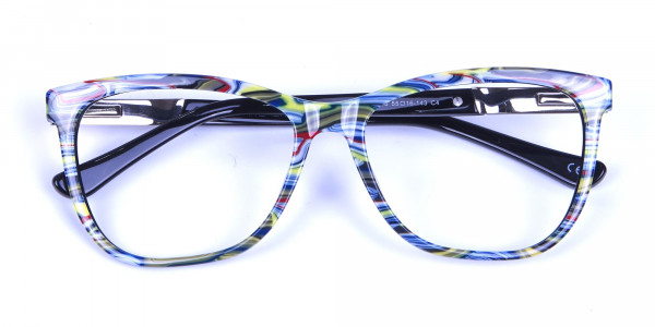 Green and Blue Oversized Glasses for Men and Women - 5