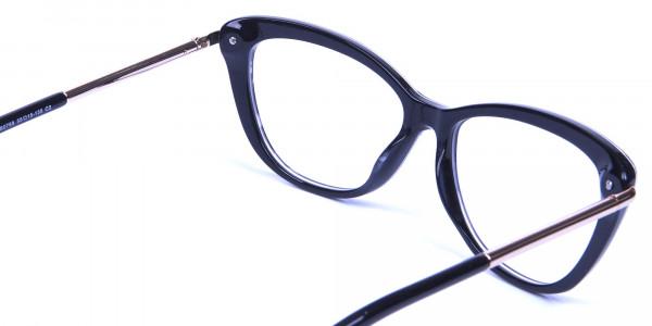 Gradient Black Zebra Striped Glasses -4