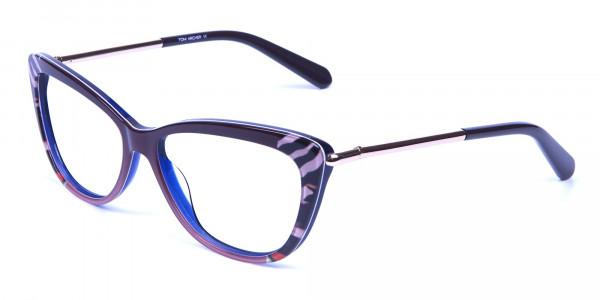 Gold Brown Zebra Glasses -2