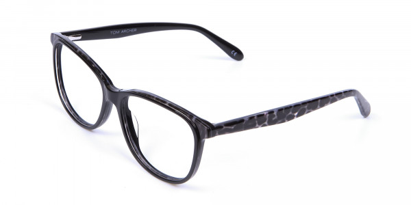 Black Cat Eye Glasses for Women - 2