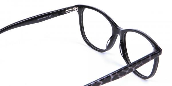 Black Cat Eye Glasses for Women - 4