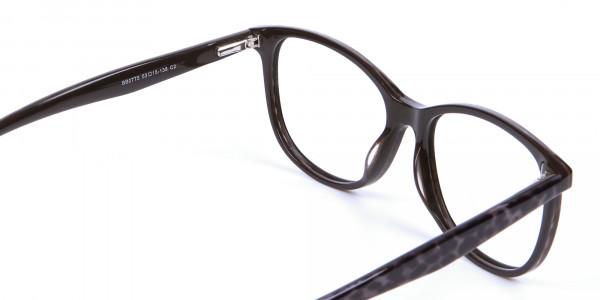 Leopard Brown Cat Eye Glasses for Women - 4