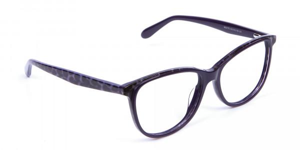 Purple Cat Eye Glasses for Women - 1