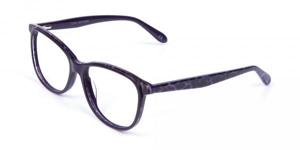 Purple Cat Eye Glasses for Women - 2