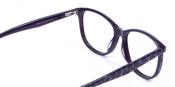 Purple Cat Eye Glasses for Women - 4