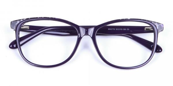 Purple Cat Eye Glasses for Women - 5
