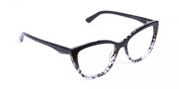 Black Cat Eye Glasses for Women - 1