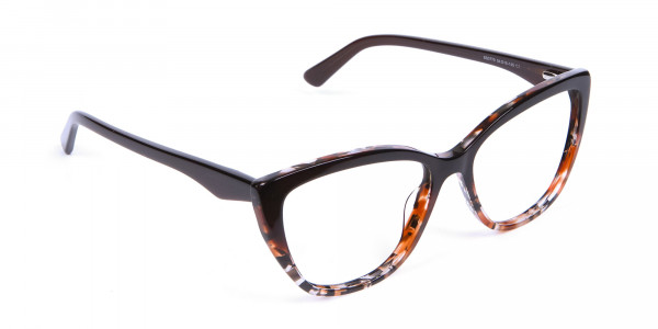 Brown Tortoiseshell Cat Eye Glasses for Women - 1