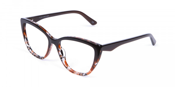 Brown Tortoiseshell Cat Eye Glasses for Women - 2