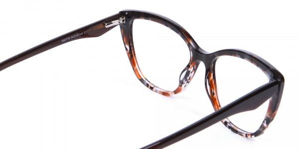 Brown Tortoiseshell Cat Eye Glasses for Women - 4