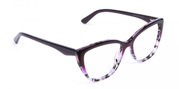 Purple Cat Eye Glasses - 1