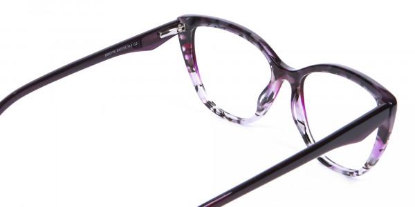 Purple Cat Eye Glasses - 4