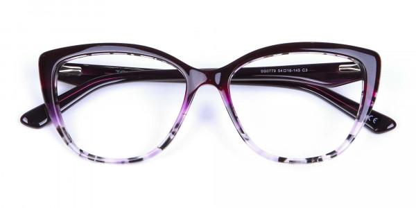 Purple Cat Eye Glasses - 5