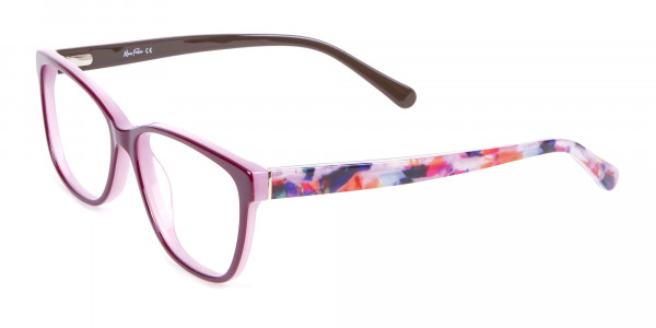 Rectangle Frame with Patterns Burgundy & Pink-3