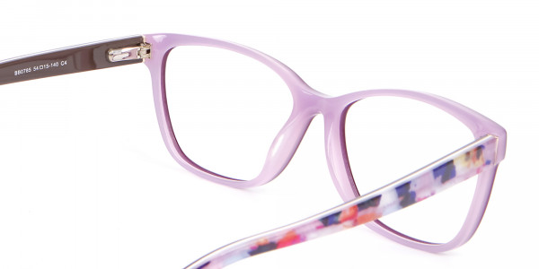 Rectangle Frame with Patterns Burgundy & Pink-5