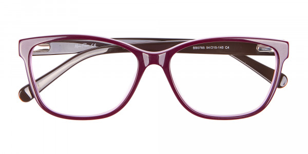 Rectangle Frame with Patterns Burgundy & Pink-7