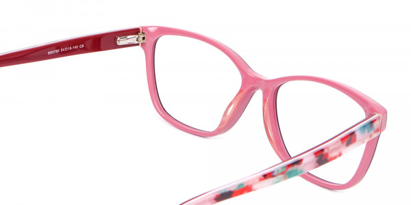 Two-tone Red Glasses for All Occasions-5