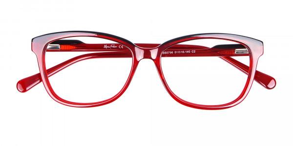 Funky Red Unisex Glasses Online UK-6