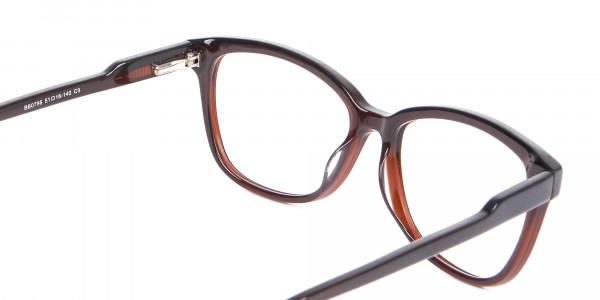 Brown Unisex Rectangle Frame UK-5