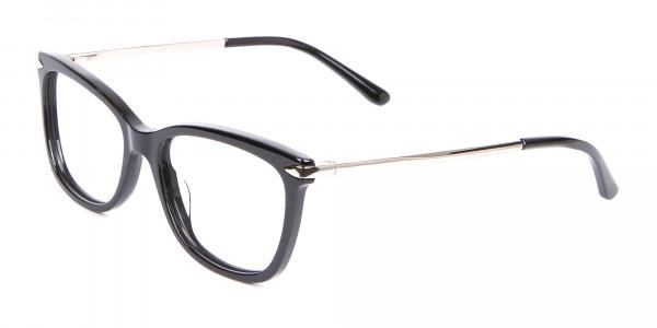 Ladies Mordern Rectangular Glasses in Black- 3