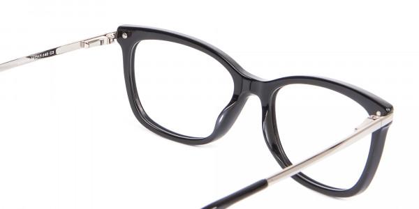 Ladies Mordern Rectangular Glasses in Black- 5