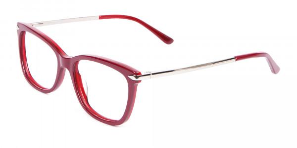 Woman Rectangular Glasses Neutral Design UK- 3