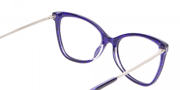Woman's Purple Butterfly Frame with Patterns-5