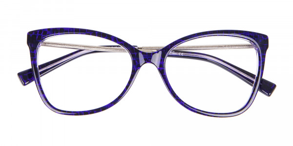 Woman's Purple Butterfly Frame with Patterns-7