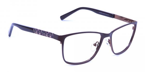 Mocha Brown Cat Eye Eyeglasses -1