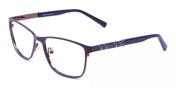 Mocha Brown Cat Eye Eyeglasses  -2