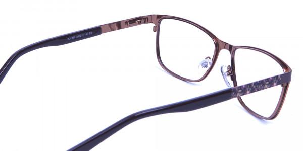 Mocha Brown Cat Eye Eyeglasses  -4