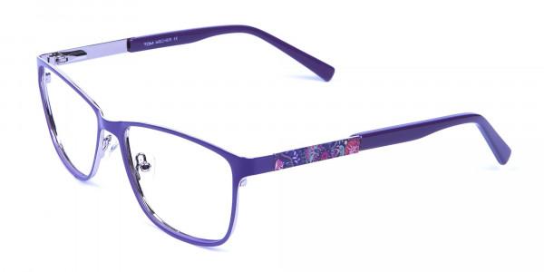 Purple Large Frame Glasses -2