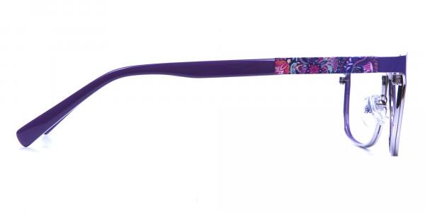 Purple Large Frame Glasses -3