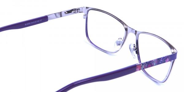 Purple Large Frame Glasses -4