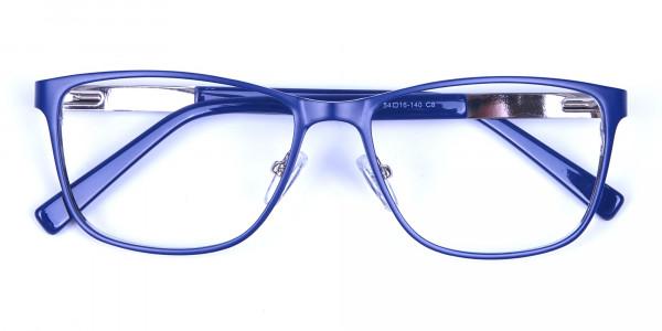 Blue Wide Frame Eyeglasses -5