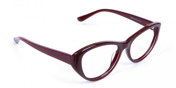 Burgundy Red Glasses -1