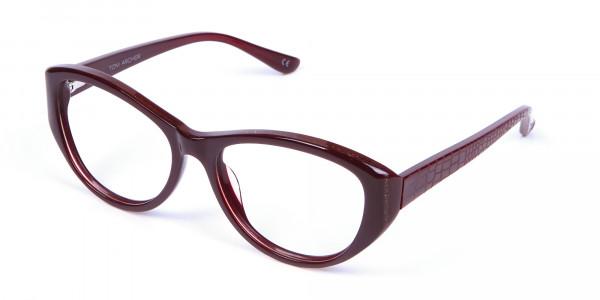 Burgundy Red Glasses -2
