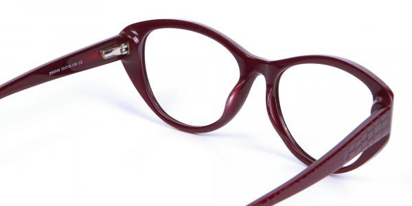 Burgundy Red Glasses -4