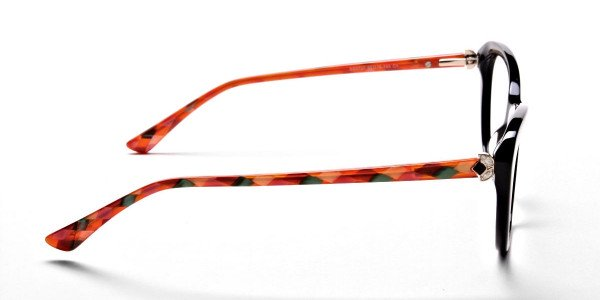 Cat Eye Two Tone with Black & Orange Frame -3