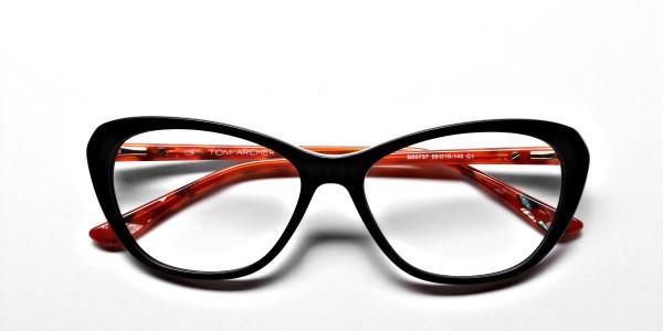 Cat Eye Two Tone with Black & Orange Frame -5