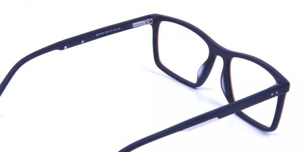 Wooden Texture Brown Rectangular Glasses for men and women - 4